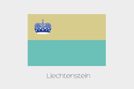 liechtenstein: An Inverted Flag of  Liechtenstein