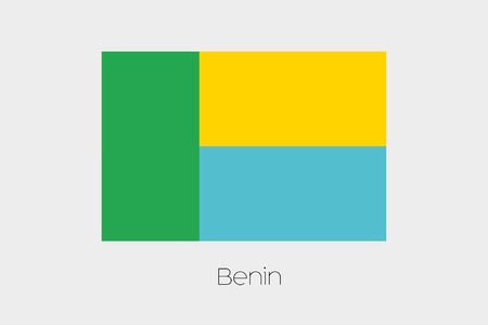 benin: An Inverted Flag of  Benin Stock Photo