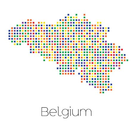 trans gender: A Map of the country of Belgium Stock Photo