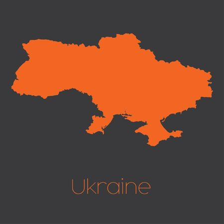 ukraine: A Map of the country of Ukraine Stock Photo
