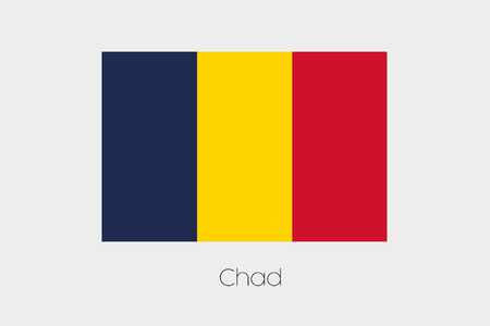 inverted: An Inverted Flag of  Chad Stock Photo