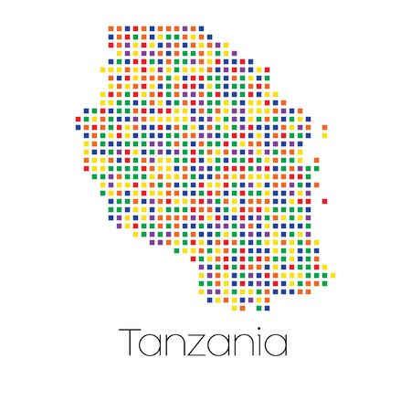 trans gender: A Map of the country of Tanzania