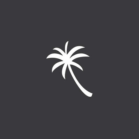 palmtree: A Yellow Icon Isolated on a Grey Background - Palmtree Stock Photo