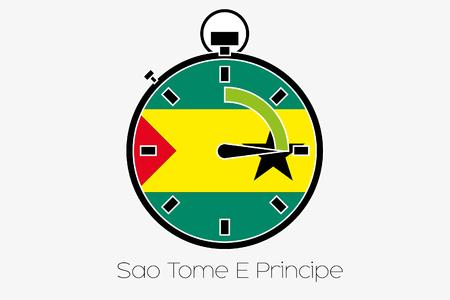 principe: Un cronómetro con la bandera de Santo Tomé y Príncipe