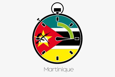 mozambique: A Stopwatch with the flag of Mozambique Stock Photo
