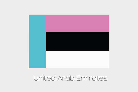 inverted: An Inverted Flag of  United Arab Emirates Stock Photo
