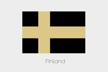 inverted: An Inverted Flag of  Finland Stock Photo
