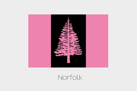 inverted: An Inverted Flag of  Norfolk Stock Photo