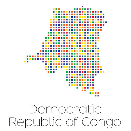 trans gender: A Map of the country of Democratic Republic of Congo Stock Photo