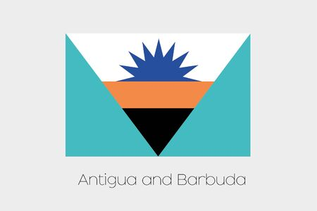 inverted: An Inverted Flag of  Antigua and Barbuda Stock Photo