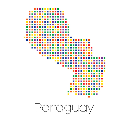 trans gender: A Map of the country of Paraguay Stock Photo