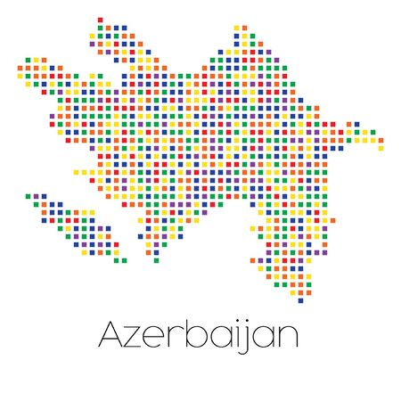 trans gender: A Map of the country of Azerbaijan Stock Photo