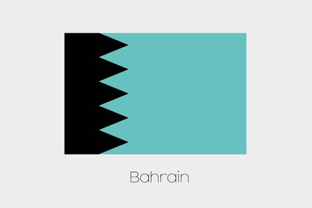 inverted: An Inverted Flag of  Bahrain