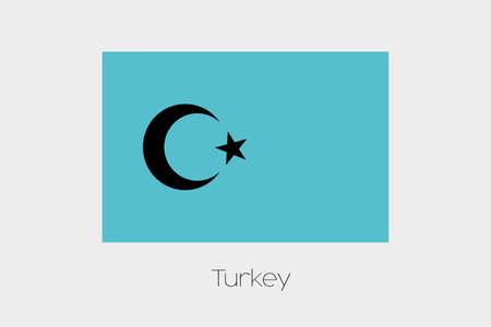 inverted: An Inverted Flag of  Turkey Stock Photo