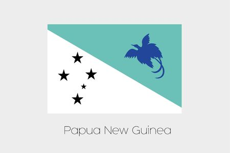 inverted: An Inverted Flag of  Papua New Guinea Stock Photo