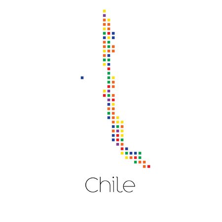 trans gender: A Map of the country of Chile Stock Photo