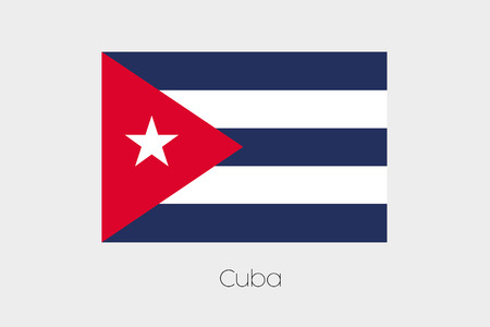 inverted: An Inverted Flag of  Cuba Stock Photo
