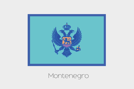 inverted: An Inverted Flag of  Montenegro