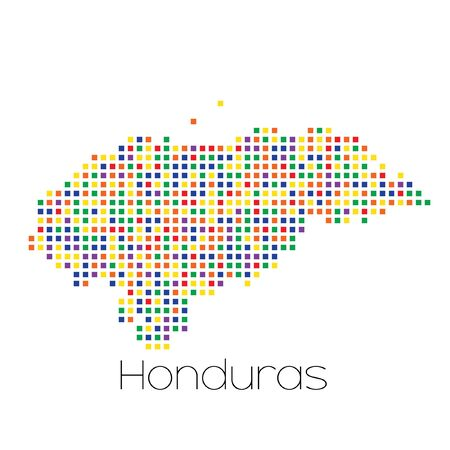 trans gender: A Map of the country of Honduras