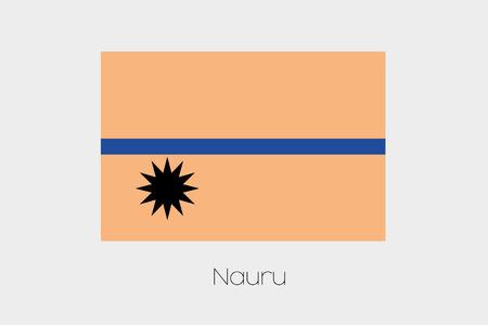 inverted: An Inverted Flag of  Nauru Stock Photo