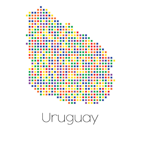trans gender: A Map of the country of Uruguay