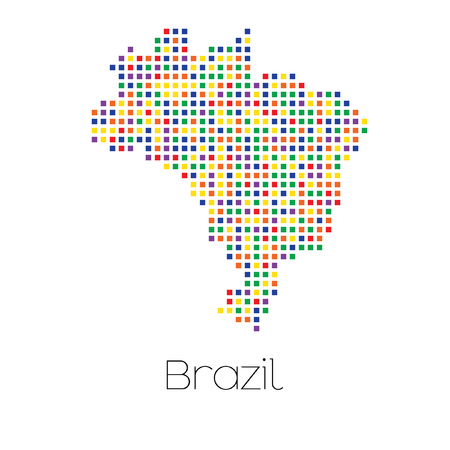 trans gender: A Map of the country of Brazil Stock Photo
