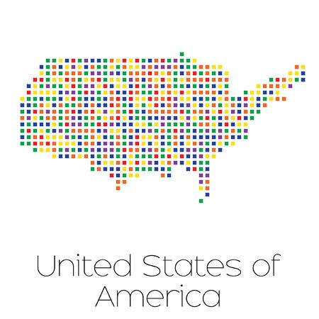 trans gender: A Map of the country of United States of America Stock Photo