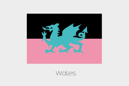 wales: An Inverted Flag of  Wales Stock Photo