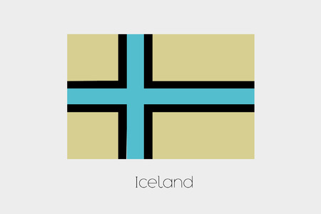 iceland: An Inverted Flag of  Iceland Stock Photo