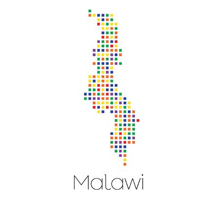 trans gender: A Map of the country of Malawi