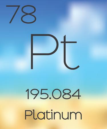 platinum: The Periodic Table of the Elements Platinum Stock Photo