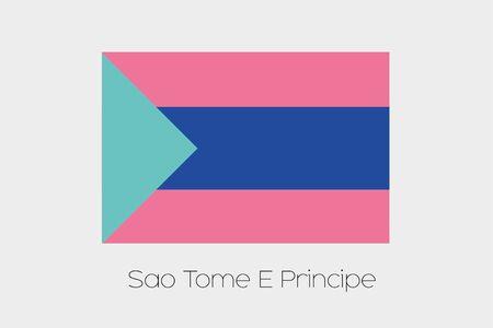 principe: Una bandera invertida de Santo Tom� y Pr�ncipe Foto de archivo