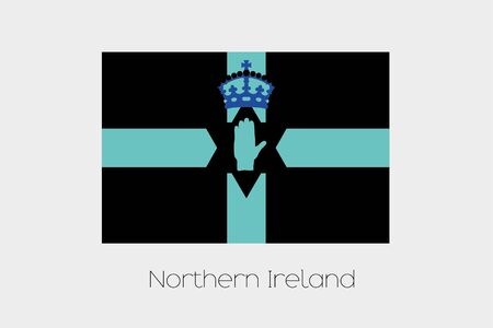 northern: An Inverted Flag of  Northern Ireland