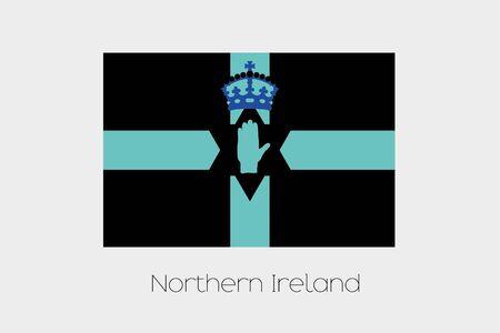 northern ireland: An Inverted Flag of  Northern Ireland