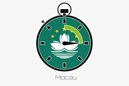 macau: A Stopwatch with the flag of Macau