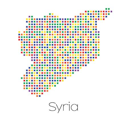 trans gender: A Map of the country of Syria
