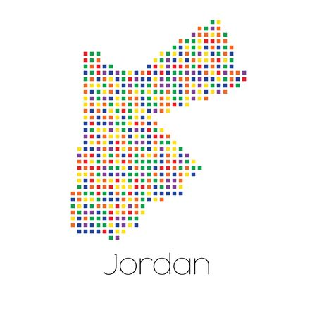 trans gender: A Map of the country of Jordan