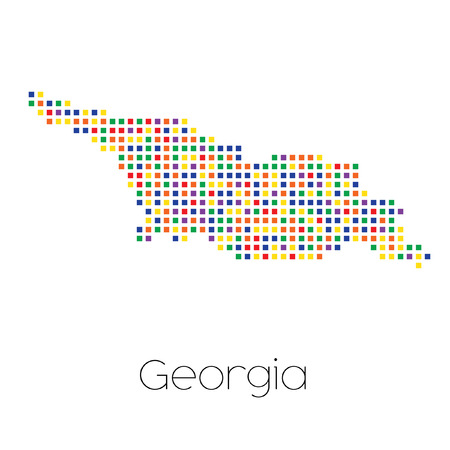 trans gender: A Map of the country of Georgia Stock Photo