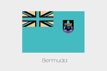 inverted: An Inverted Flag of  Bermuda Stock Photo