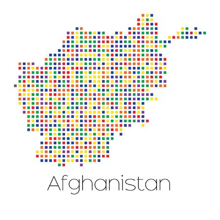 trans gender: A Map of the country of Afghanistan Stock Photo