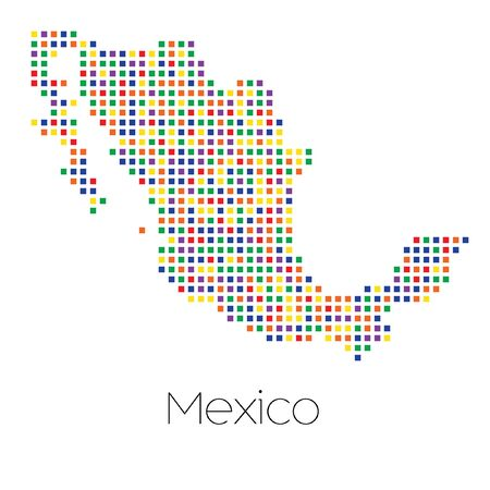 trans gender: A Map of the country of Mexico