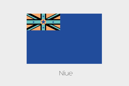 inverted: An Inverted Flag of  Niue Stock Photo