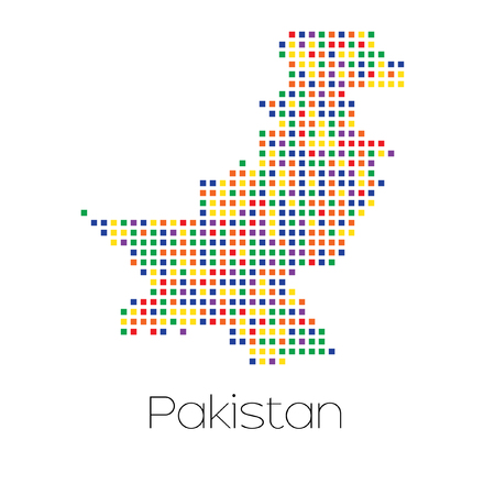trans gender: A Map of the country of Pakistan Stock Photo
