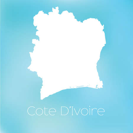 cote: A Map of the country of Cote Divoire
