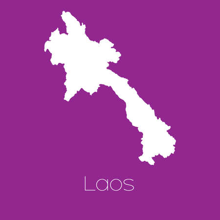 laos: A Map of the country of Laos Stock Photo