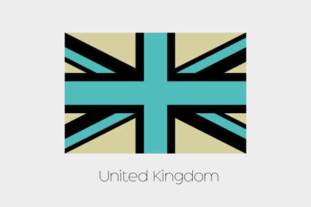 inverted: An Inverted Flag of  United Kingdom Stock Photo