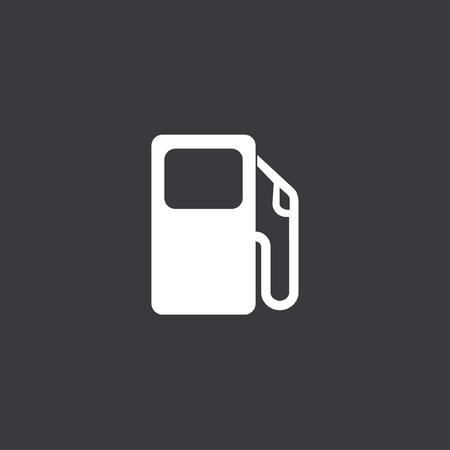 surtidor de gasolina: Un icono amarillo aislado en un fondo gris - bomba de gasolina Foto de archivo
