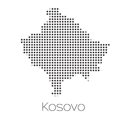 kosovo: A Map of the country of Kosovo
