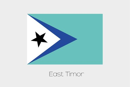 inverted: An Inverted Flag of  East Timor