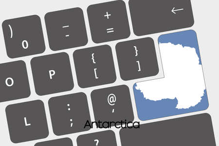 antartica: A Illustration of a Keyboard with the Enter button being the Flag of  Antartica